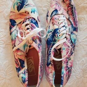 Van's canvas shoes floral